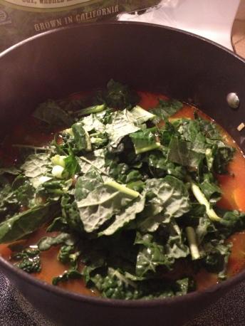 kale in my soup