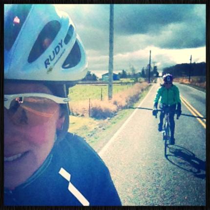 Lora and Me biking