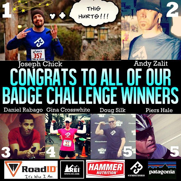 f3 badge winners
