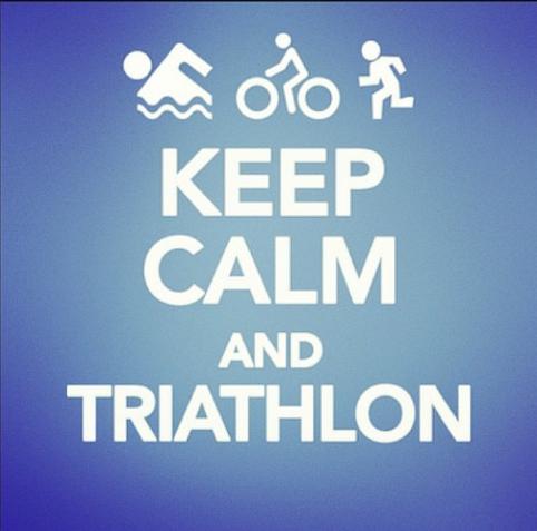keep calm and triathlon