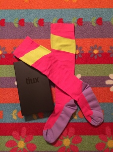 Tiux pink and yellow socks