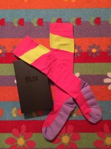Tiux pink and yellow socks